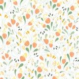 Het naadloze patroon van tulpen Royalty-vrije Stock Fotografie