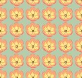 Het naadloze patroon van tulpen Royalty-vrije Stock Foto's