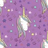 Het naadloze patroon van Unicorn Rainbow Royalty-vrije Stock Foto's