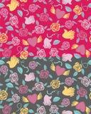 Het naadloze patroon van Valentine op een transparante achtergrond Royalty-vrije Stock Afbeeldingen