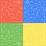 Het naadloze patroon van vissen Royalty-vrije Stock Afbeelding