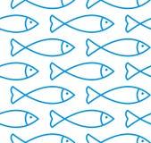 Het naadloze patroon van vissen royalty-vrije illustratie