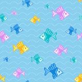Het naadloze patroon van vissen Stock Afbeelding