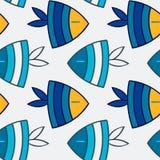 Het naadloze patroon van vissen Stock Foto