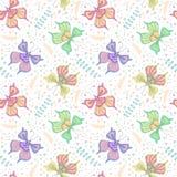 Het naadloze patroon van vlinders stock illustratie