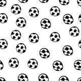 Het naadloze patroon van voetbalballen Royalty-vrije Stock Afbeelding