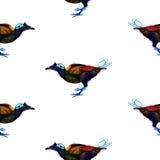 Het naadloze patroon van vogels Stock Afbeelding