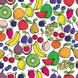 Het naadloze patroon van vruchten Stock Foto