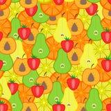 Het naadloze patroon van vruchten royalty-vrije illustratie