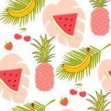 Het naadloze patroon van vruchten vector illustratie