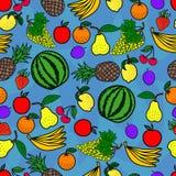 Het naadloze patroon van vruchten Royalty-vrije Stock Afbeelding