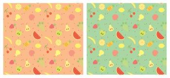 Het naadloze patroon van vruchten. Royalty-vrije Stock Fotografie