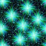 Het naadloze patroon van het vuurwerk Royalty-vrije Stock Foto