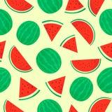 HET NAADLOZE PATROON VAN HET WATERMELOENfruit vector illustratie