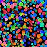 Het naadloze patroon van waterverfconfettien Stock Foto