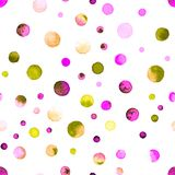 Het naadloze patroon van waterverfconfettien Royalty-vrije Stock Afbeeldingen