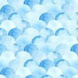 Het naadloze patroon van waterverfschalen Stock Afbeelding