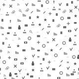 Het naadloze patroon van Webpictogrammen Grijze pictogrammenwebsites en bloggen Royalty-vrije Stock Afbeelding