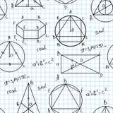 Het naadloze patroon van wiskunde Stock Afbeeldingen