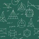 Het naadloze patroon van wiskunde Royalty-vrije Stock Foto