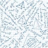 Het naadloze patroon van wiskunde. Stock Foto