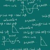 Het naadloze patroon van wiskunde Royalty-vrije Stock Foto's