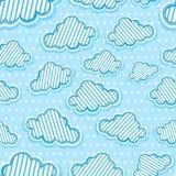 Het naadloze patroon van wolken Royalty-vrije Stock Afbeeldingen