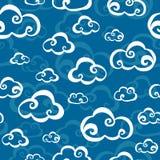 Het Naadloze Patroon van wolken Stock Foto