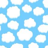 Het Naadloze Patroon van wolken Royalty-vrije Stock Foto