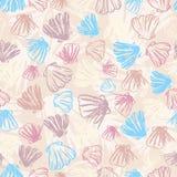 Het naadloze patroon van zeeschelpen Stock Foto's