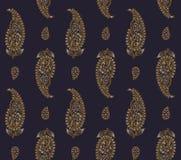 Het naadloze patroon van zijdepaisley royalty-vrije illustratie
