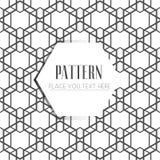 Het naadloze patroon, vat geometrische achtergrond samen, zwart-witte strepen, die lijnen ineenstrengelen Royalty-vrije Stock Fotografie
