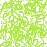 Het naadloze patroongraffiti van letters voorzien stock illustratie