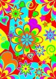 Het naadloze Psychedelische Patroon van de Hippie Royalty-vrije Stock Foto