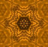 Het naadloze regelmatige sterpatroon bruine metaal glanzen Royalty-vrije Stock Afbeeldingen