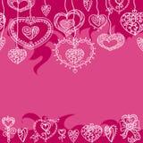Het naadloze rode patroon van Valentine ` s Royalty-vrije Stock Foto's