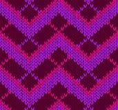 Het Naadloze Rode Roze Violette Patroon van de stijl Royalty-vrije Stock Foto's
