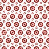 Het naadloze Rood van patroonsneeuwvlokken op een witte achtergrond vector illustratie