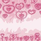Het naadloze roze patroon van Valentine ` s Royalty-vrije Stock Foto