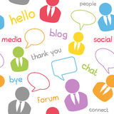 Het naadloze Sociale Patroon van Media Stock Fotografie