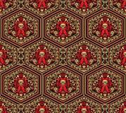 Het naadloze traditionele Indische patroon van Paisley vector illustratie