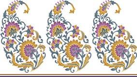 Het naadloze unieke patroon van Paisley stock illustratie