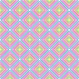 Het naadloze vector geometrische patroon van de kleurenruit vector illustratie