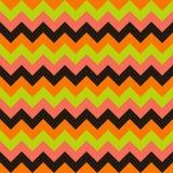Het naadloze vector kleurrijke oranje groene zwarte roze van het de pijlen geometrische ontwerp van het chevronpatroon vector illustratie