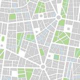 Het naadloze vectorbehang van de stad Stock Afbeeldingen