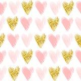 Het naadloze vectorpatroon met goud schittert vector illustratie