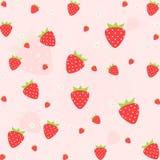 Het naadloze vectorpatroon van het aardbeifruit Vector, illustratie Royalty-vrije Stock Afbeelding