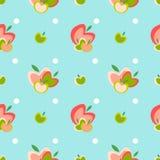 Het naadloze vectorpatroon van Apple Stock Fotografie