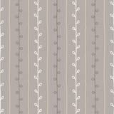 Het naadloze vectorpatroon van de aardschets De grijze en witte achtergrond van het lijntakje Hand getrokken de herfsttextuur Royalty-vrije Stock Afbeeldingen