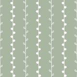 Het naadloze vectorpatroon van de aardschets Witte takjes op groene achtergrond Hand getrokken textuurillustratie Royalty-vrije Stock Afbeeldingen